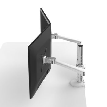 Pole Stand 2 Monitor Arm Desk Mount