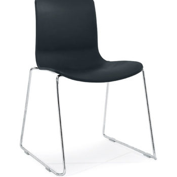 Black SC Sled Chair