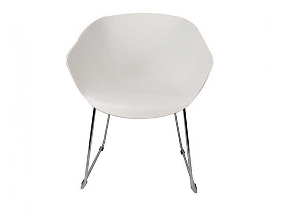 Arn Tub Chair With Chrome Sled Base Winya